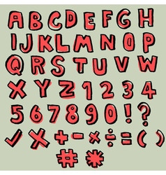 Hand drawn doodle font vector