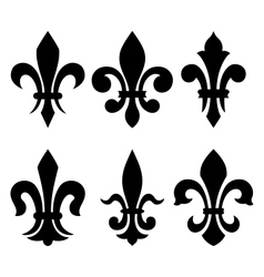 Heraldic symbols fleur de lis vector image