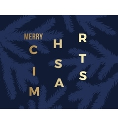 Merry christmas abstract classy card vector