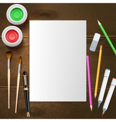 Painter Mockup vector image vector image