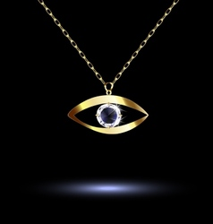 pendant with eye vector image vector image