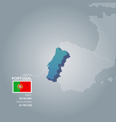 Portugal information map vector