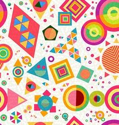 Seamless pattern geometry shape colorful abstract vector