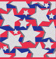 Seamless pattern of stars vector