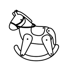Silhouette horse toy flat icon vector
