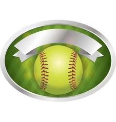 Softball Emblem vector image
