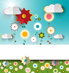 Spring - Summer Sunny Flowers on Garden - Field vector image