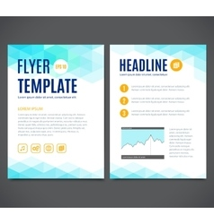 template design of flyer brochure cover vector image