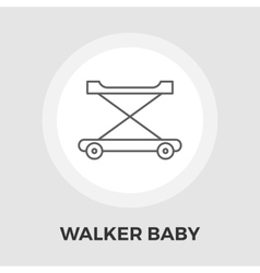 Walker baby flat icon vector