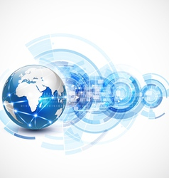 World network communication and technology concept vector image vector image