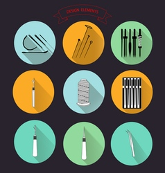 0515 5 for tailors needle v vector image