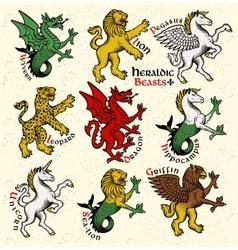 Heraldic beasts vector image