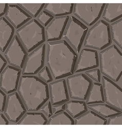 Dry cracked sandstone ground vector image