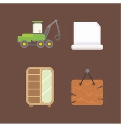 Timber icons vector