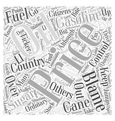 Gasoline prices word cloud concept vector