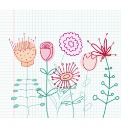 Childlike flowers vector