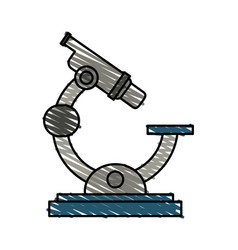 Color crayon stripe cartoon microscope science vector