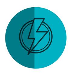 power ray symbol icon vector image