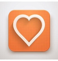 Heart icon premium vector