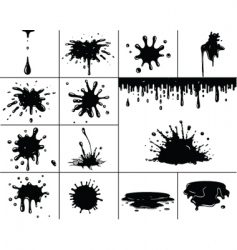 black splashes vector image