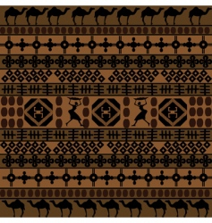 African motifs and camels vector image
