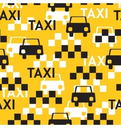 Taxi seamless pattern with symbols taxi vector