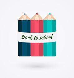 Creative template with color pencil banner can be vector