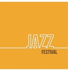 Inscription jazz festival vector