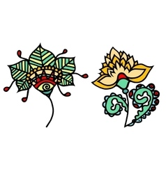 Sketchy flowers vector