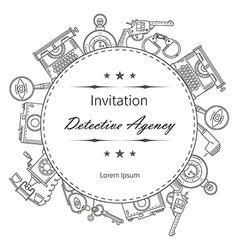Invitation detective icon vector