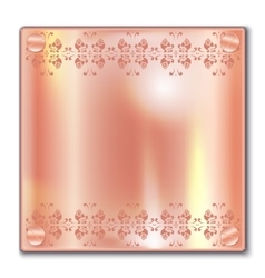 Copper plate vector