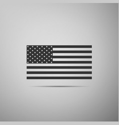 American flag icon on grey background flag of usa vector