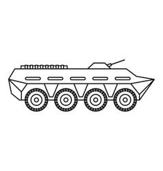 Army battle tank icon outline style vector