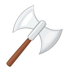Battle axe icon cartoon style vector