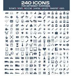 Big icons set for different purposes vector image vector image
