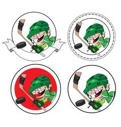 boy hockey banner vector image vector image