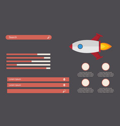 Business infographic design start up with rocket vector