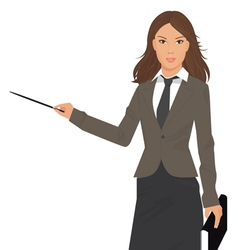 business woman presentation vector image vector image