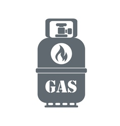 Camping gas container icon vector image