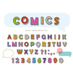 comic font design funny pop art letters and vector image vector image