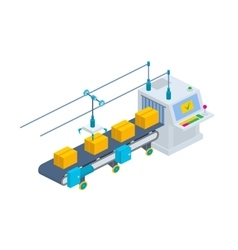 Conveyor Isometric industrial vector image vector image