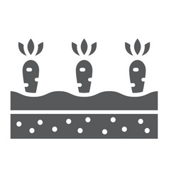 Growing carrots glyph icon farming agriculture vector