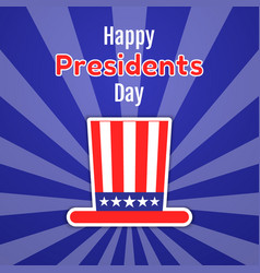 happy presidents day greeting card invitation or vector image