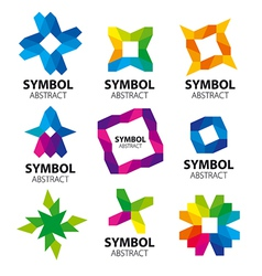 Large collection of abstract logos of the modules vector
