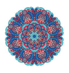 Mandala zentangl flower doodle drawing round vector