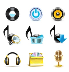 music icons - bella series vector image