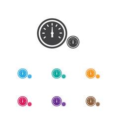 of transport symbol on clock vector image vector image