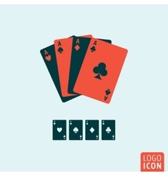 Playing cards icon isolated vector