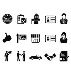 sales icon set vector image