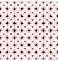 seamless pattern of card suits vector image vector image